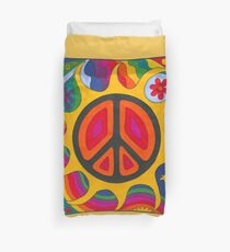 Psychedelic Flaming Peace Duvet Cover