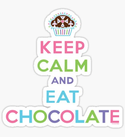 Keep Calm and Eat Chocolate  - lights Sticker