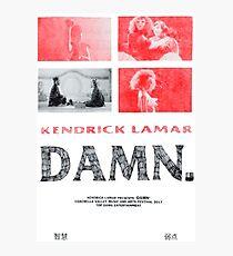 Kendrick Lamar - Damn.  Photographic Print