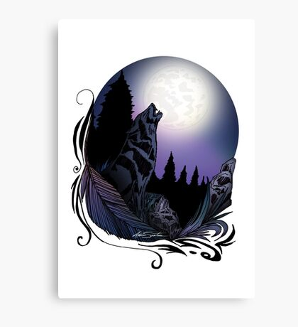 Howling Wolf (Signature Design) Canvas Print