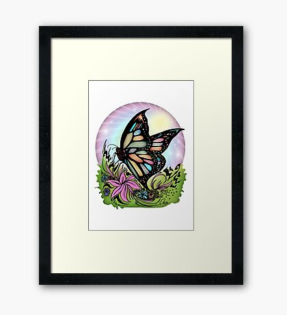 Butterfly Serenity Framed Print