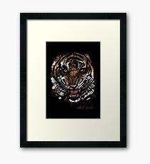 Tiger Face (Signature Design) Framed Print