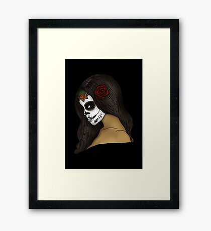 The Day Of The Dead Girl Framed Print