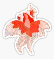 Beautiful Delicate Aquarium Goldfish Dancer Sticker