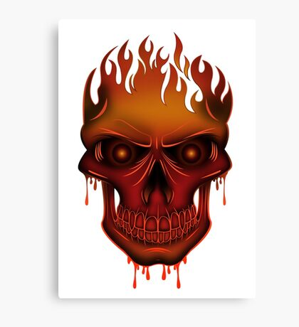 Flame Skull Canvas Print