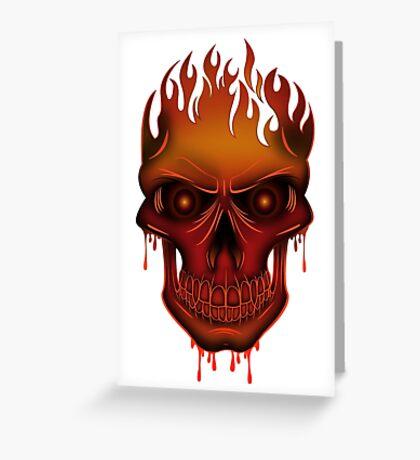 Flame Skull Greeting Card
