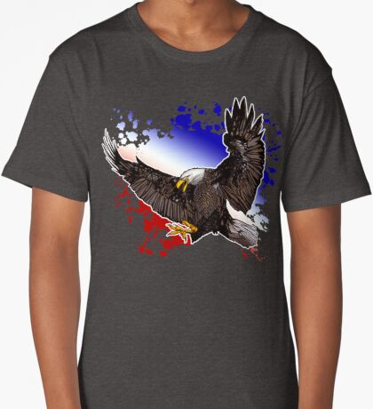 Bald Eagle - Red, White & Blue (2) Long T-Shirt