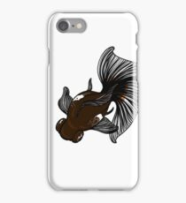 Delicate Beautiful Fantail Goldfish Dancer iPhone Case/Skin