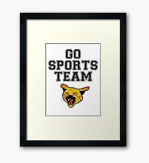 GO SPORTS TEAM WILDCATS Framed Print