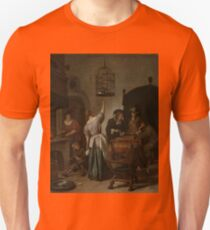 Jan Steen - Interior With A Woman Feeding A Parrot, Known As the Parrot Cage , 1670 Unisex T-Shirt