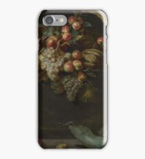 Jan Roos - Still Life Of Fruit And Vegetables With Two Monkeys iPhone Case/Skin