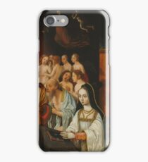 Jan Mostaert - Wings Of A Dipthyc With The Souls Of The Just And Donor iPhone Case/Skin