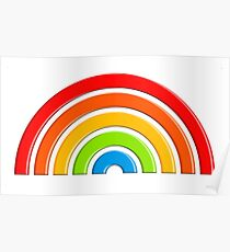 3D Simple Rainbow Poster
