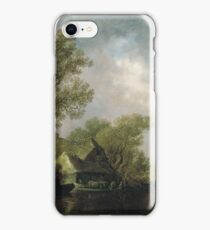 Jan Josephsz. Van Goyen - River Landscape With Ferry Boat And Cottages iPhone Case/Skin