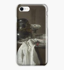 Jan Jansz. Treck - Still Life With A Pewter Flagon And Two Ming Bowls iPhone Case/Skin