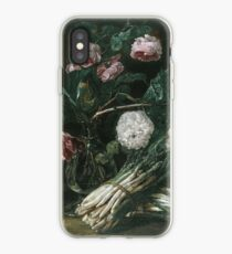 Jan Fyt - Vase Of Flowers And Two Bunches Of Asparagus iPhone Case
