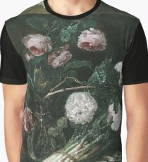 Jan Fyt - Vase Of Flowers And Two Bunches Of Asparagus Graphic T-Shirt