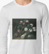 Jan Fyt - Vase Of Flowers And Two Bunches Of Asparagus Long Sleeve T-Shirt