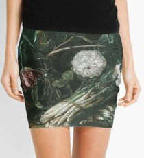 Jan Fyt - Vase Of Flowers And Two Bunches Of Asparagus Mini Skirt