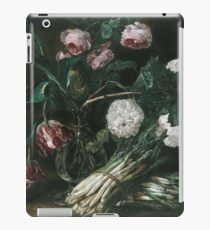 Jan Fyt - Vase Of Flowers And Two Bunches Of Asparagus iPad Case/Skin