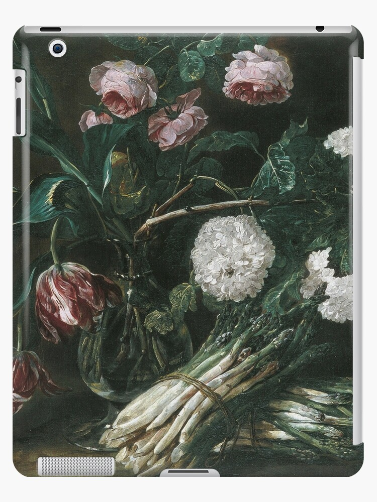 Jan Fyt - Vase Of Flowers And Two Bunches Of Asparagus by artcenter