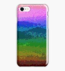 Pixelated Rainbow Mountain iPhone Case/Skin