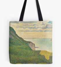 Classic Art - Seascape at Port-en-Bessin  - Georges Seurat Tote Bag