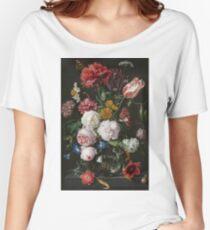 Jan Davidsz. De Heem - Still Life With Flowers In A Glass Vase, 1683 Women's Relaxed Fit T-Shirt