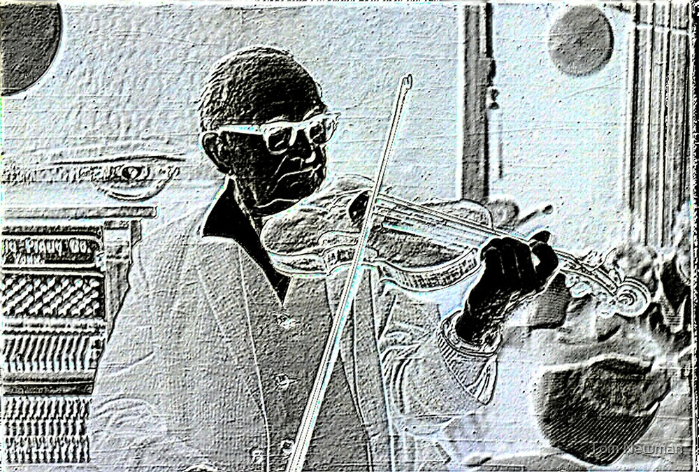 Violin Player by Tom Newman