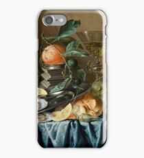 Jan Davidsz De Heem - Still Life With Oysters And Grapes.jpeg iPhone Case/Skin