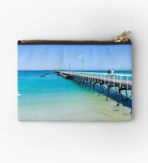 Beachport Jetty on a perfect day, South Australia Studio Pouch