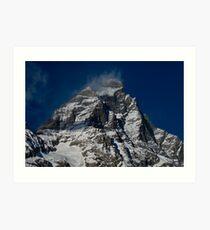 Snow clouds on The Matterhorn Art Print