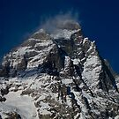 Snow clouds on The Matterhorn by Steve plowman