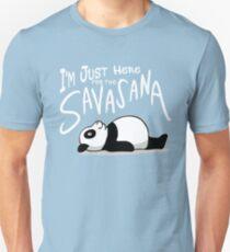 Lazy Yoga Panda - here for the Savasana Unisex T-Shirt