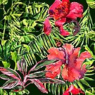 watercolor tropical leaves and plants by OlgaBerlet