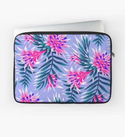 Fasciata Tropical Floral - Light Blue / Pink Laptop Sleeve