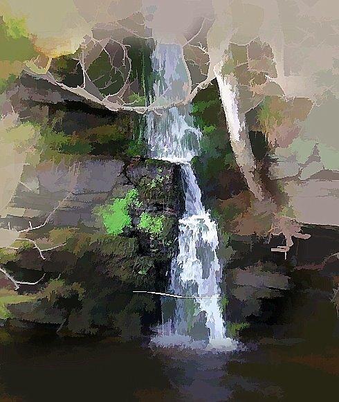Waterfall by hilarydougill