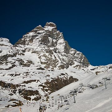 Matterhorn and ski area by pluffy