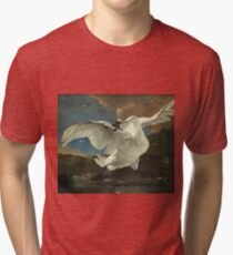 Jan Asselyn - The Threatened Swan Tri-blend T-Shirt