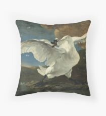 Jan Asselyn - The Threatened Swan Throw Pillow