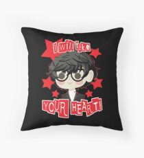 Persona 5 Hero- Red Throw Pillow