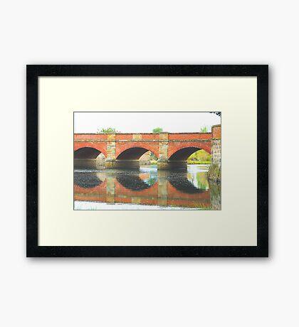 Convict Times - The Red Bridge Campbelltown (C1838)Tasmania, Australia Framed Print