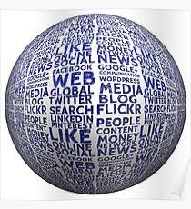 Ball social media board structure networks presentation logo social media  Poster