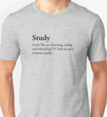 Study Funny Awesome Geek Nerd Crazy Fun Cool Slogan Book Tee Shirt Unisex T-Shirt