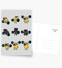OLYMPIC LIFTING PUGS Postcards