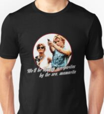 Thelma And Louise Margaritas by the sea Slim Fit T-Shirt