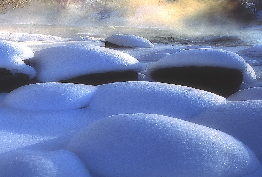 Winter Rocks-Eagle River by Steve  Taylor