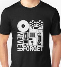 Never Forget Cassette Tape Disk Floppy Unisex T-Shirt