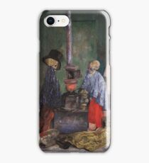 James Ensor - Skeletons Warming Themselves iPhone Case/Skin