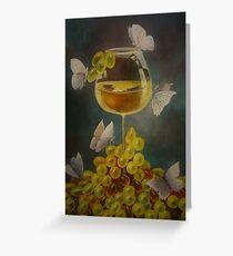 Wine, nectar.  Greeting Card